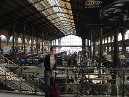 Gare du Nord station in Paris.