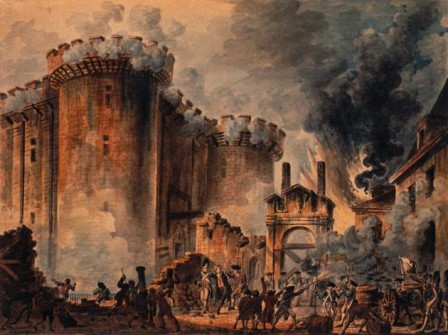 Prise de la Bastille by Jean-Pierre-Louis-Laurent Houel.