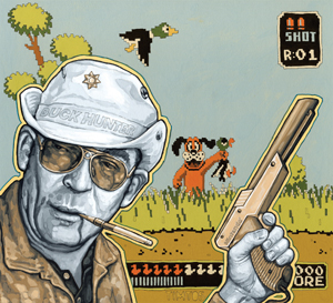 Duck Hunter S. Thompson by Tim Tomkinson