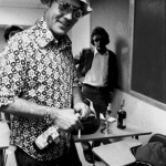 Dr. Hunter S. Thompson and a bottle of Wild Turkey