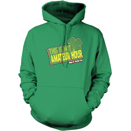 Wearing this hoodie would immediately identify you as an amateur.